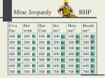 Mine Jeopardy BHP