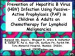 HBV infection in Cancer Patients