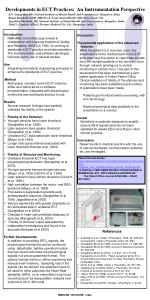 Developments in ECT Practices:  An Instrumentation Perspective