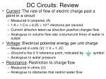 DC Circuits: Review