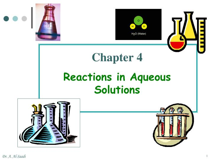 chapter 4 reactions in aqueous solutions n.