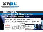 XBRL GL, the standardized Global Ledger, and Interest/Adoption in the Global Tax Community
