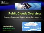 Public Clouds Overview