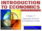 Chapter 17 Aggregate Demand and Aggregate Supply