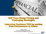 Pricing Methodology – Choices?