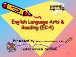 English Language Arts & Reading (EC-4)