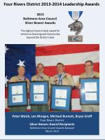 Four Rivers District 2013-2014 Leadership Awards