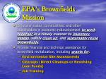 EPA's Brownfields Mission