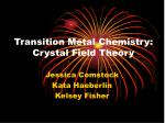 Transition Metal Chemistry: Crystal Field Theory