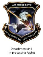 Detachment 845 In-processing Packet