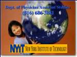Dept. of Physician Assistant Studies (516) 686-3881