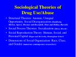 Sociological Theories of  Drug Use/Abuse