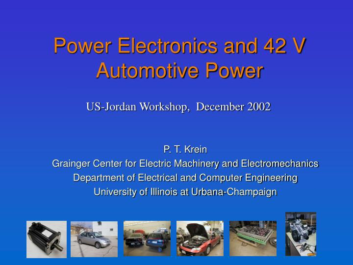 power electronics and 42 v automotive power n.