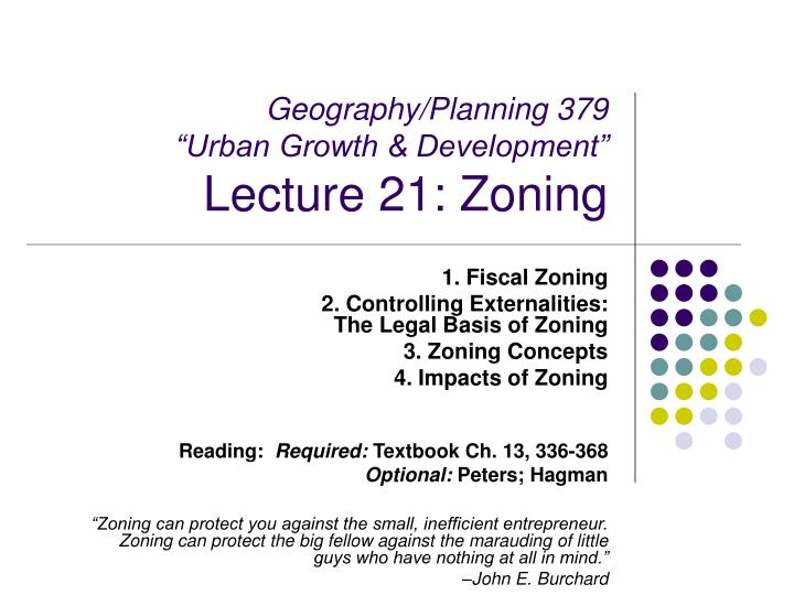 geography planning 379 urban growth development lecture 21 zoning n.
