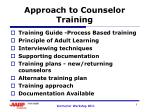 Approach to Counselor Training