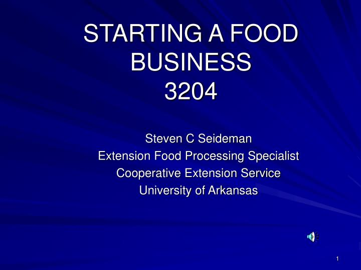 starting a food business 3204 n.