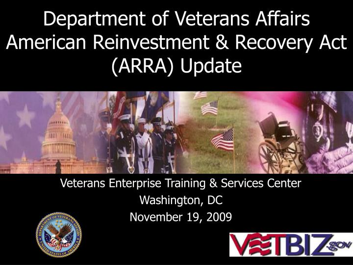 department of veterans affairs american reinvestment recovery act arra update n.