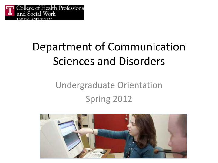 department of communication sciences and disorders n.