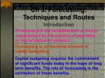Ch 3: Forecasting: Techniques and Routes