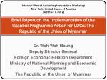 Dr. Wah Wah Maung Deputy Director General Foreign Economic Relation Department