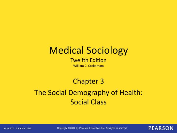 chapter 3 the social demography of health social class n.