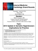 Internal Medicine Cardiology Grand Rounds