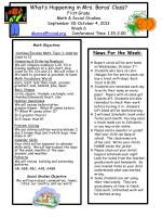 Math Objectives Continue Envision Math Topic 3:  Additon Sums to 12 Comparing & Ordering Numbers