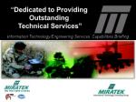 """"""" Dedicated to Providing Outstanding Technical Services"""""""