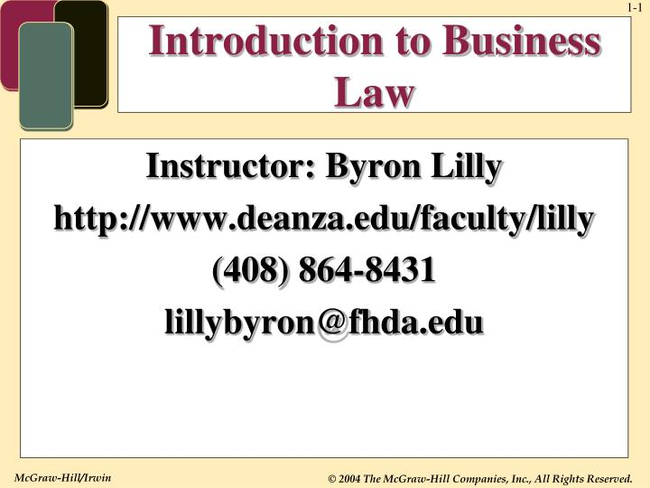 introduction to business law n.