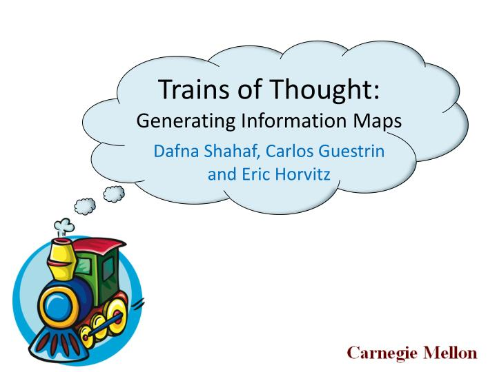 trains of thought generating information maps n.