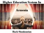 Higher Education System In Armenia