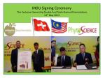 MOU Signing Ceremony  The Exclusive Ownership  Double  And Triple  Stemcell Formulations