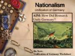 Nationalism Unification of Germany