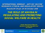 THE ROLE OF ANVISA IN REGULATING AND PROMOTING SOCIAL WELFARE IN HEALTH