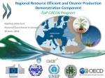 Regional Resource Efficient and Cleaner Production Demonstration Component EaP GREEN Program