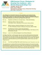KMA Summer Forum: Strategies for Growing Your Audience – plus… Wichita Historic Buildings Tour