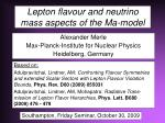 Lepton flavour and neutrino mass aspects of the Ma-model