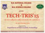R.D. NATIONAL COLLEGE & W.A. SCIENCE COLLEGE presents
