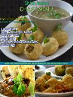 Chaat Menu