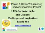 Peaks & Dales Volunteering and Advancement Project