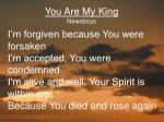 You Are My King Newsboys