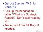 Get out Summer W.S. for Chap. 46