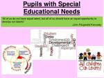 Pupils with Special Educational Needs