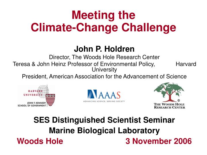 meeting the climate change challenge n.