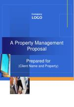 A Property Management Proposal