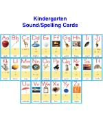 Kindergarten Sound/Spelling Cards