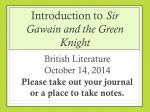 Introduction to Sir Gawain and the Green Knight