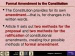 Formal Amendment to the Constitution