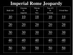 Imperial Rome Jeopardy