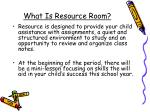 What Is Resource Room?